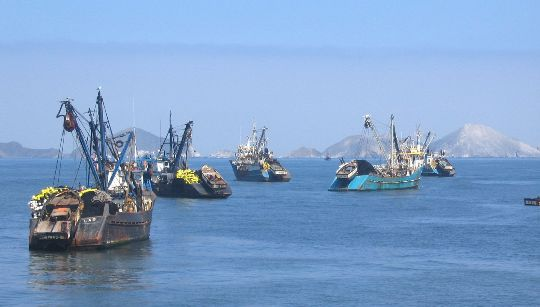 Fishing boats Peru