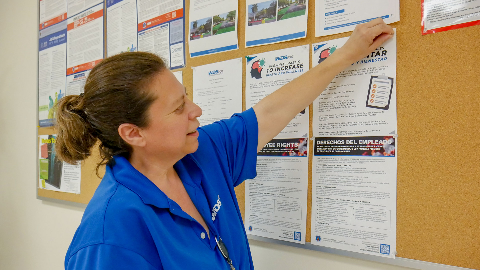 Informative health posters are being posted to help increase business continuity
