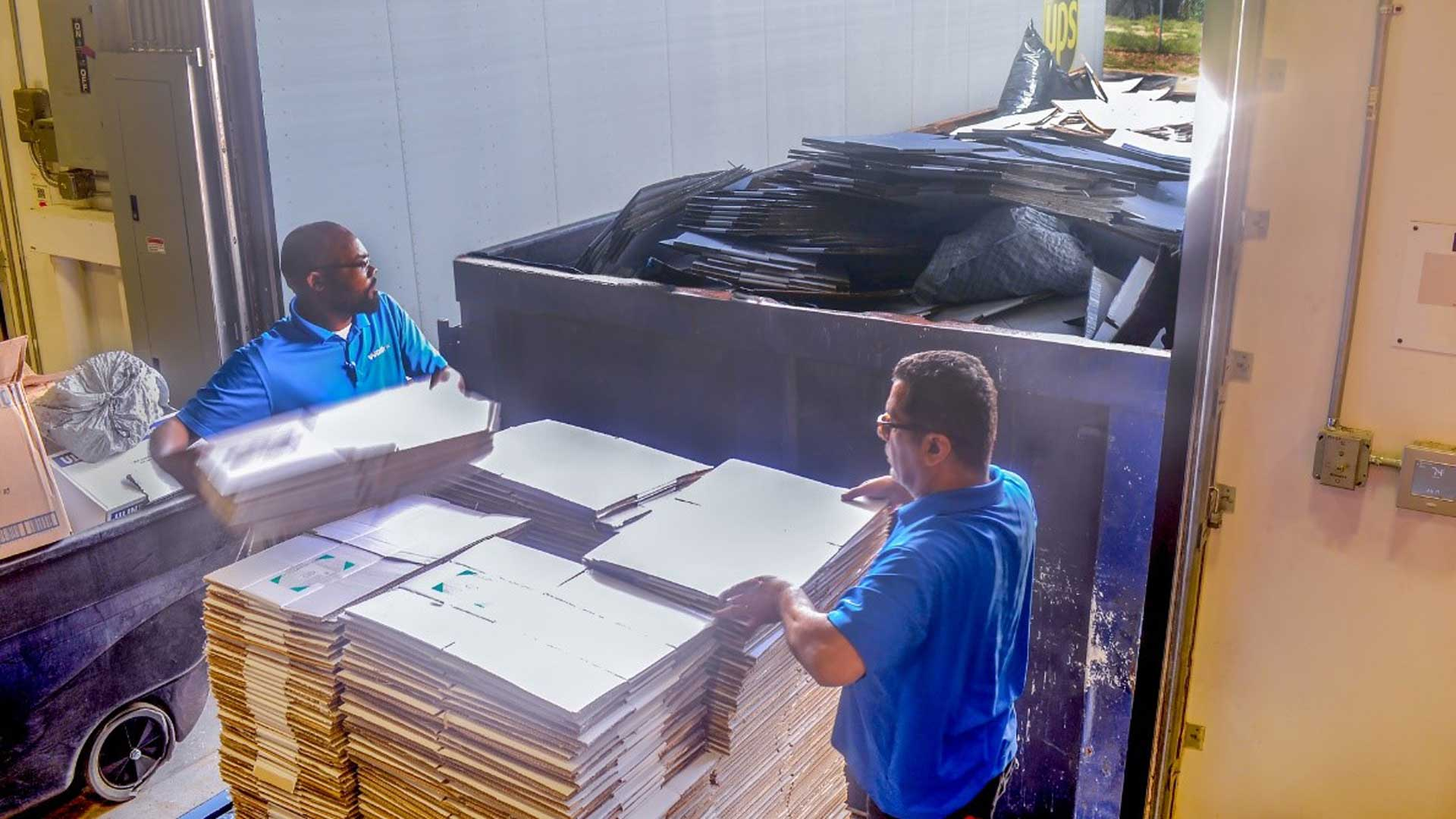 Sustainability is greatly achieved through recycling corrugated cardboard.