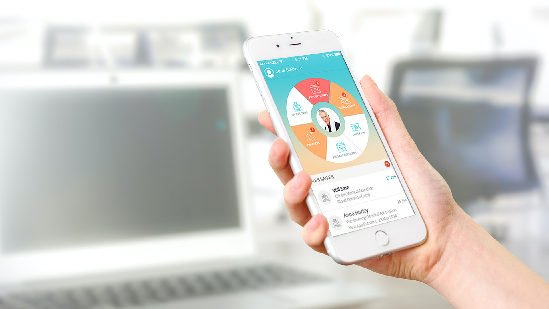Telemedicine is easy accessible on mobile devices.
