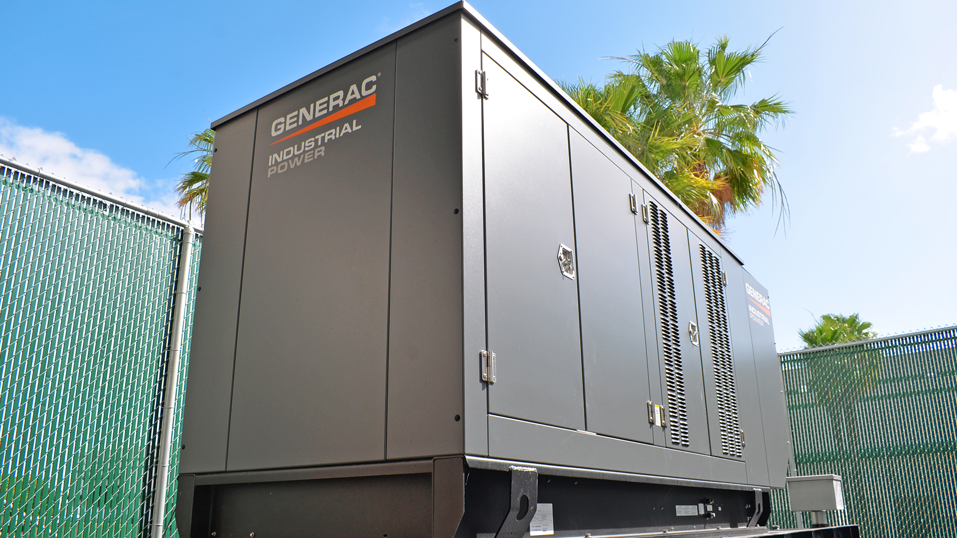 A generator has been installed planning for the event of poweroutages.