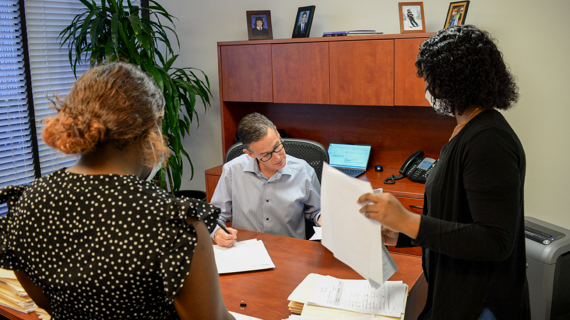 WDSrx President meets with two members of the Quality Assurance Team