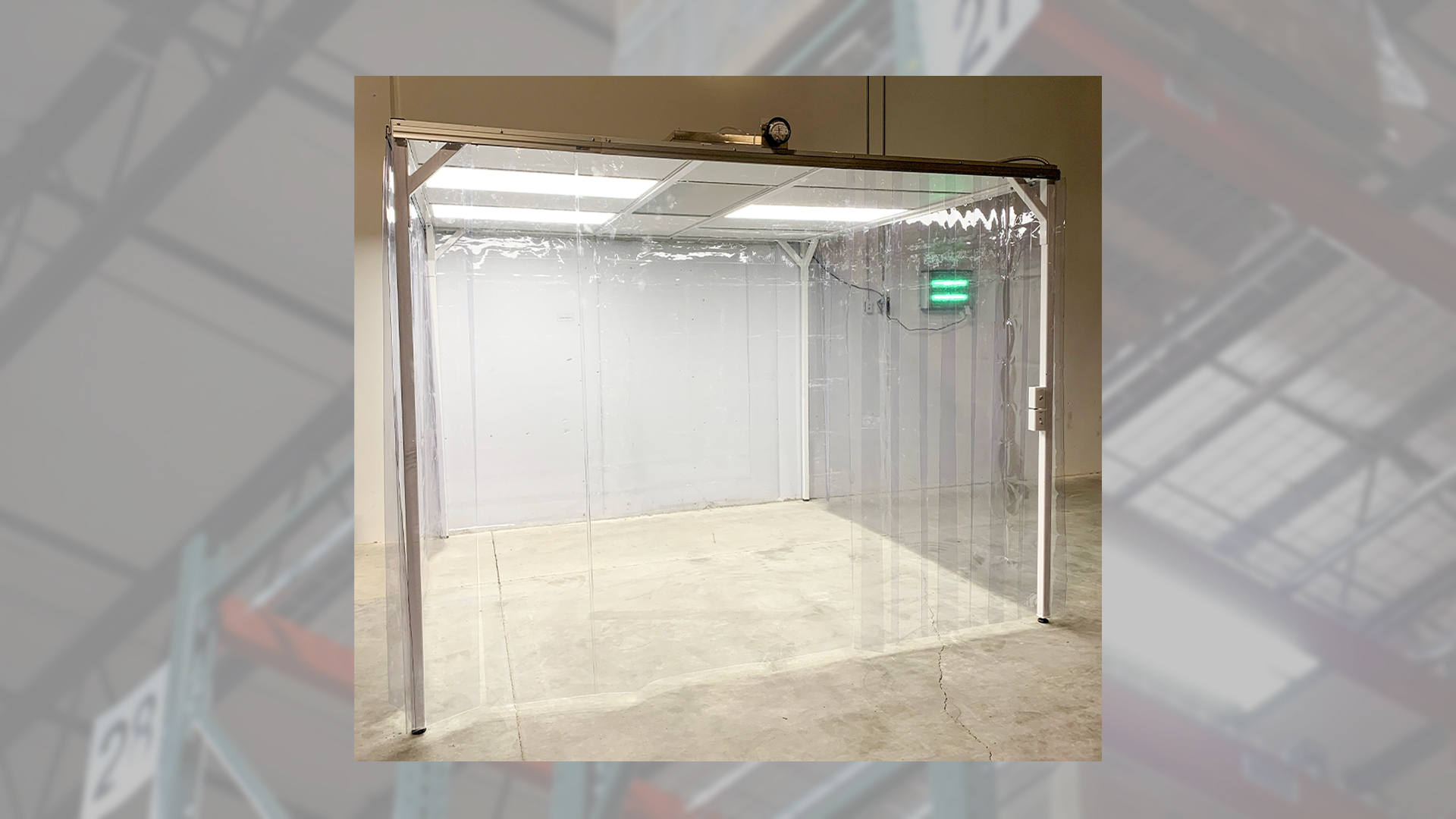 sample booth in warehouse facility made for testing of API materials