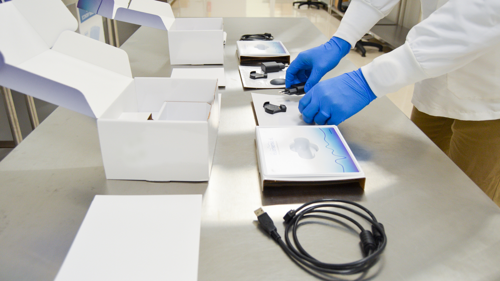 Production Technician completes kitting of medical devices
